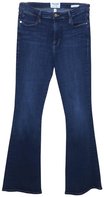 Item - Blue Medium Wash Le High Flare Leg Jeans Size 30 (6, M)