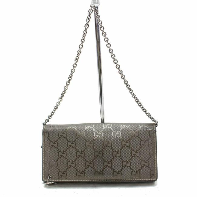 Gucci Pewter on Chain Imprime Monogram Gg 871633 Wallet Gucci Pewter on Chain Imprime Monogram Gg 871633 Wallet Image 1