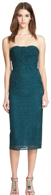 Item - Teal Sonya Lace Mid-length Cocktail Dress Size 8 (M)