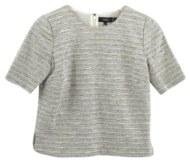 Item - Ivory 'zip Shell S Thaymes Tweed' #135-81 Blouse Size 0 (XS)