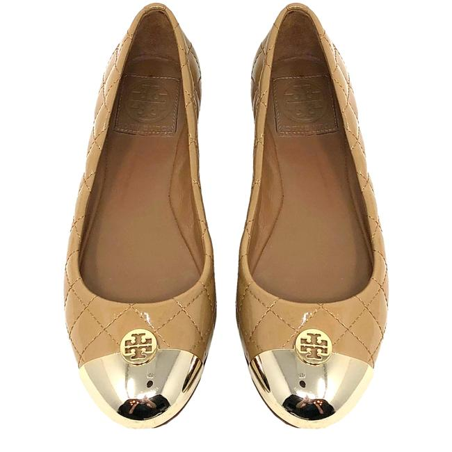 Tory Burch Tan Kaitlin Quilted Cap Flats Size US 5.5 Regular (M, B) Tory Burch Tan Kaitlin Quilted Cap Flats Size US 5.5 Regular (M, B) Image 1