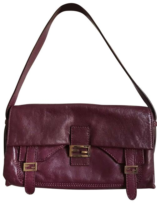 Item - Burgundy Red Leather Baguette
