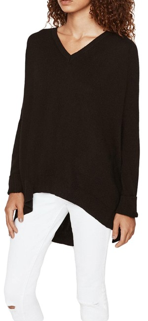 Item - Danielle High/Low Cashmere Black Sweater