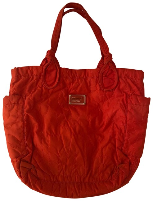 Item - Pretty Medium Orange Nylon Tote