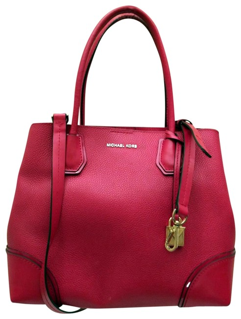 Michael Kors Mercer Red Leather Tote Michael Kors Mercer Red Leather Tote Image 1
