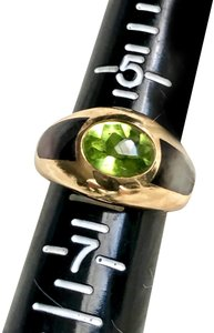 Mauboussin MAUBOUSSIN Collection Ring Solid 18K Gold Peridot Mother of Pearl Sz 6