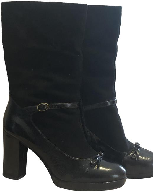 Marc by Marc Jacobs Black Jane Suede/Patent Leather Boots/Booties Size EU 38.5 (Approx. US 8.5) Regular (M, B) Marc by Marc Jacobs Black Jane Suede/Patent Leather Boots/Booties Size EU 38.5 (Approx. US 8.5) Regular (M, B) Image 1