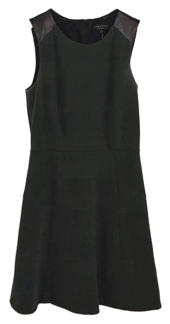 Preload https://img-static.tradesy.com/item/26381017/rag-and-bone-green-leather-detail-135-67-short-workoffice-dress-size-2-xs-0-3-650-650.jpg