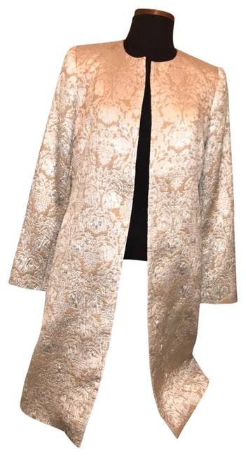 Preload https://img-static.tradesy.com/item/26381238/beige-and-silver-evening-coat-size-4-s-0-4-650-650.jpg