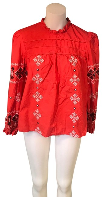 Preload https://img-static.tradesy.com/item/26381345/zara-embroidered-orange-szl-blouse-size-12-l-0-2-650-650.jpg