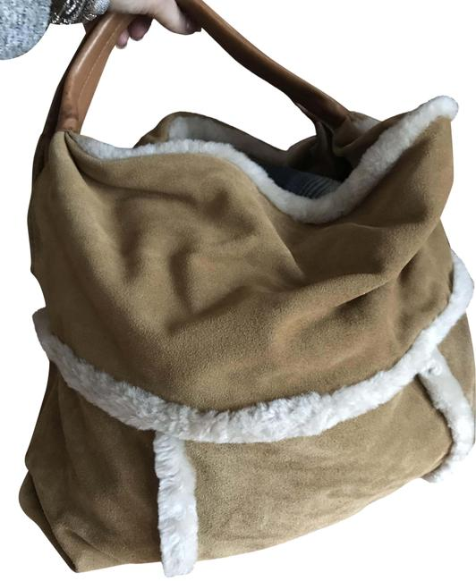 Item - Tote Tan Suede Leather Hobo Bag