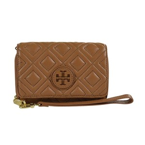Tory Burch Marion Quilted Wallet Wristlet in Tiger Eye