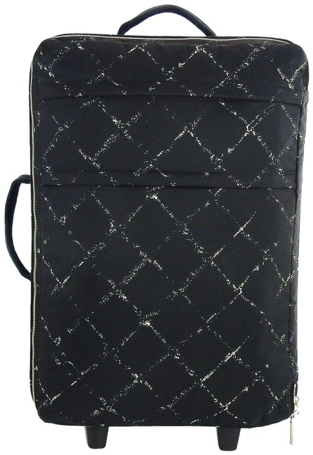 Item - Carry On Luggage Rolling Suitcase Black Old Line Nylon Weekend/Travel Bag