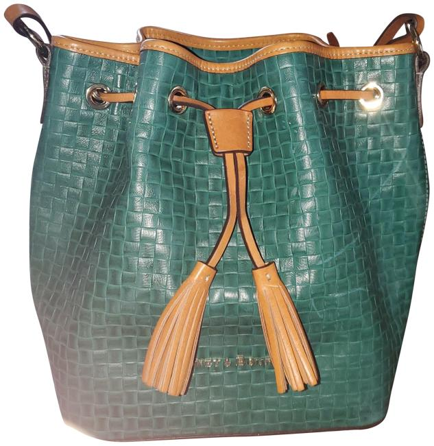 Item - Bucket Green Leather Laptop Bag