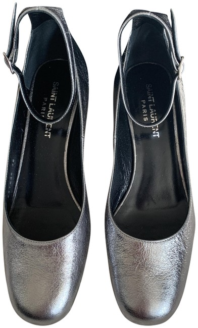 Item - Silver Babies Leather Ankle-strap Nwot Pumps Size EU 36 (Approx. US 6) Regular (M, B)