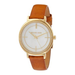Michael Kors NWT Michael Kors Women's Cinthia Gold and Brown Leather Watch MK2712