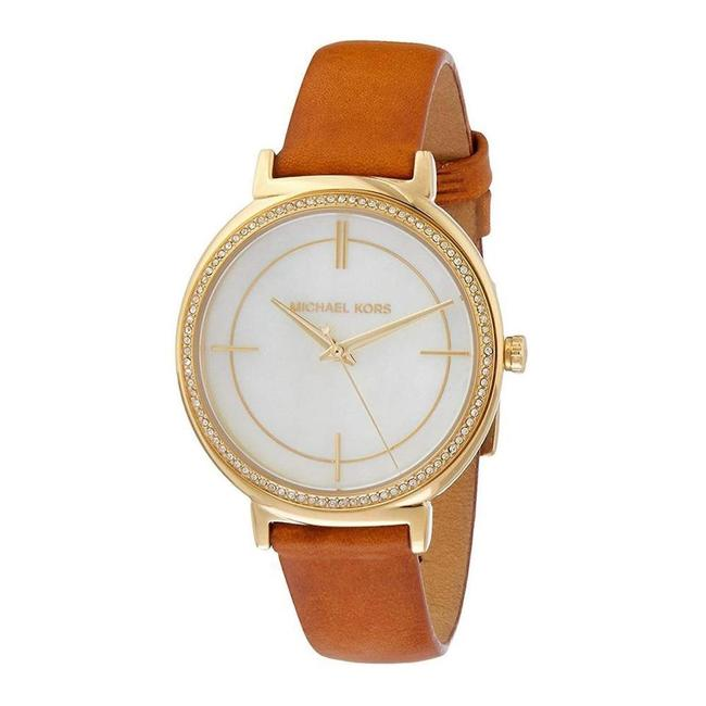 Item - Multicolor Women's Cinthia Gold and Brown Leather Mk2712 Watch