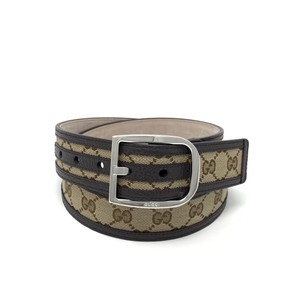 Gucci Gucci Leather-Trimmed Belt Size 38