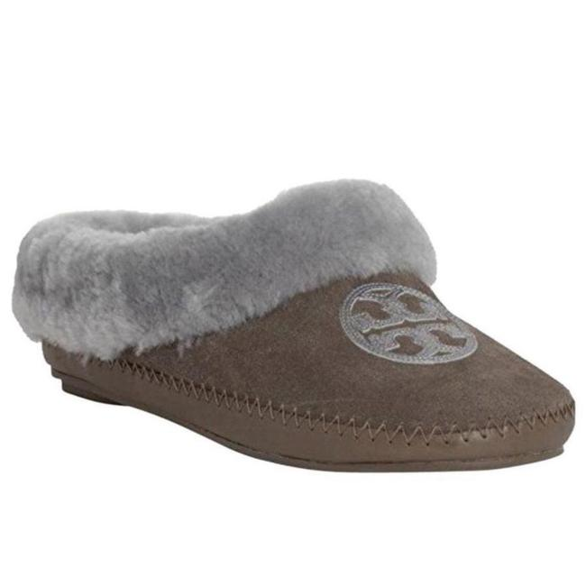 Item - Grey Coley Slippers-split Suede Flats Size US 7 Regular (M, B)