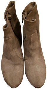Alberto Fermani Rounded Toe Light Brown Suede Boots