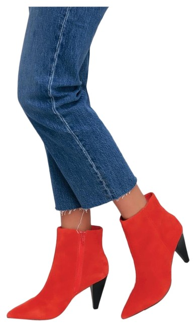 Item - Red Lulu's Leather Boots/Booties Size US 7.5 Regular (M, B)