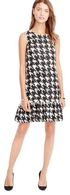 Item - Brown Flounce In Houndstooth Print Short Work/Office Dress Size 10 (M)