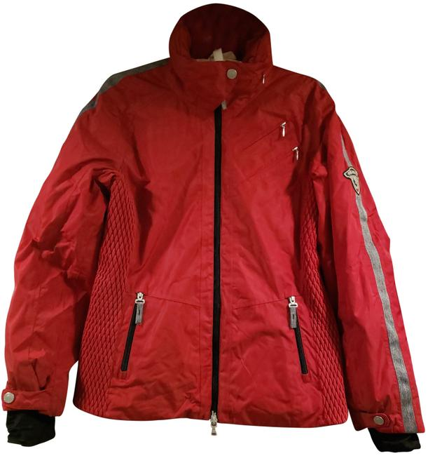 Item - Red 'fire & Ice' Coat Size 4 (S)