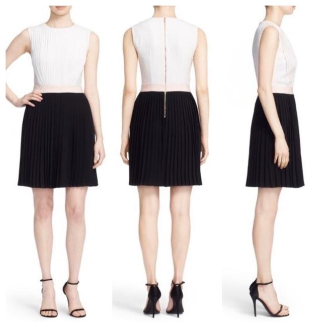 Item - Black & White Glina Pleated Short Work/Office Dress Size 2 (XS)