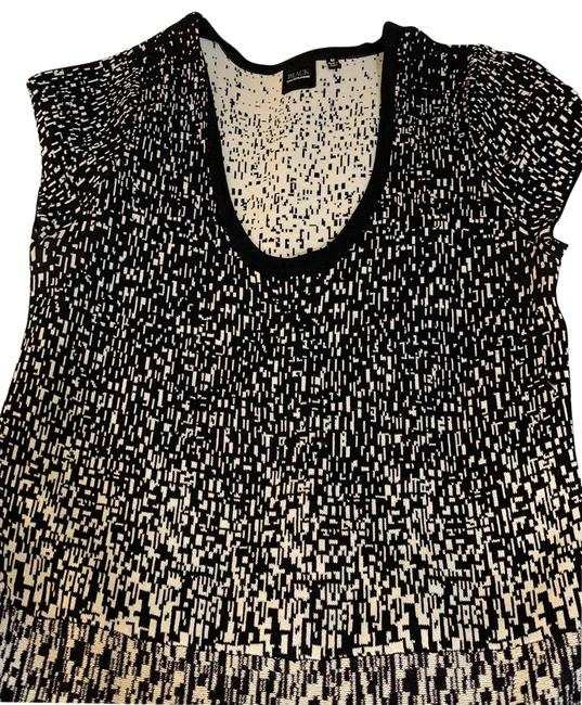 Item - Black and White Fit Have Body Con Flare Mid-length Work/Office Dress Size 8 (M)