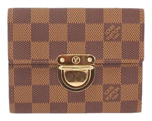 Louis Vuitton Louis Vuitton Damier Portefeuille Koala N60005 Women's Damier Canvas Wallet (tri-fold) Ebene