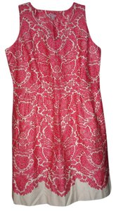 Isaac Mizrahi short dress RED/OFF WHITE on Tradesy