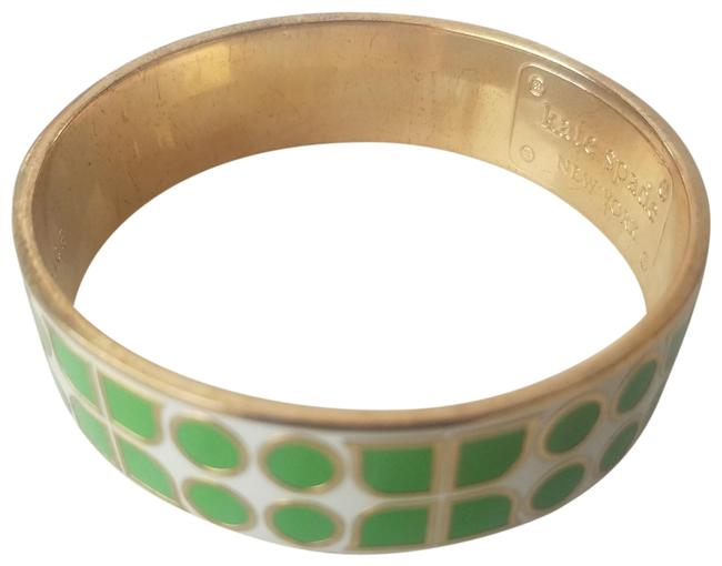 Item - Green and Gold Art Deco Have Courage Bracelet