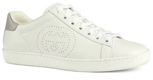 Gucci Sneakers Ace Flats Leather white Athletic