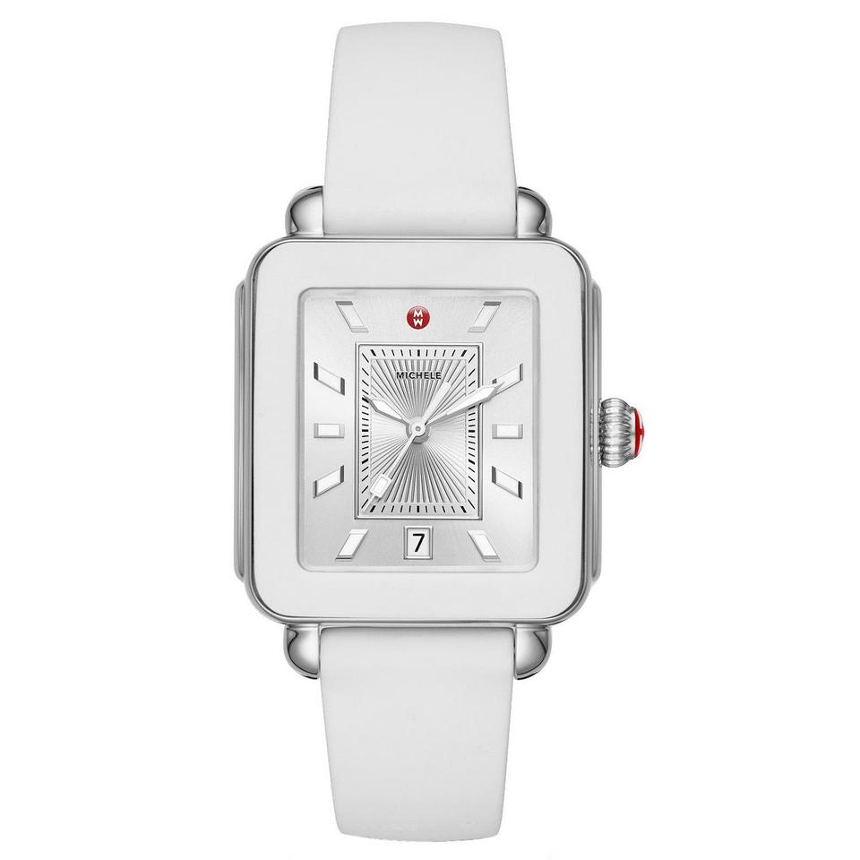 Mon Coach Deco michele white / silver new deco sport stainless-steel and silicon  mww06k000004 watch 37% off retail