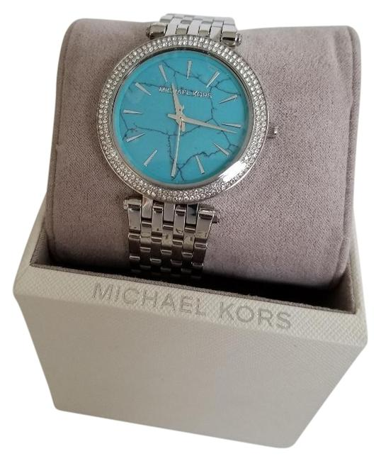 Item - Turquoise Darci Stainless Steel Pave Women's Watch