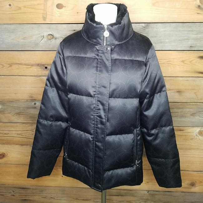 Item - Black with Silver C's Nwot Signature Puffer Jacket Coat Size 8 (M)