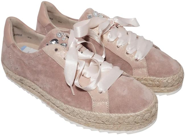 Item - Pink Cream Altrosa Cushioned Lace Up Sneaker Suede Platforms Size US 9.5 Regular (M, B)