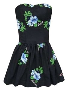 Hollister short dress navy blue Mini Summer Aloha on Tradesy