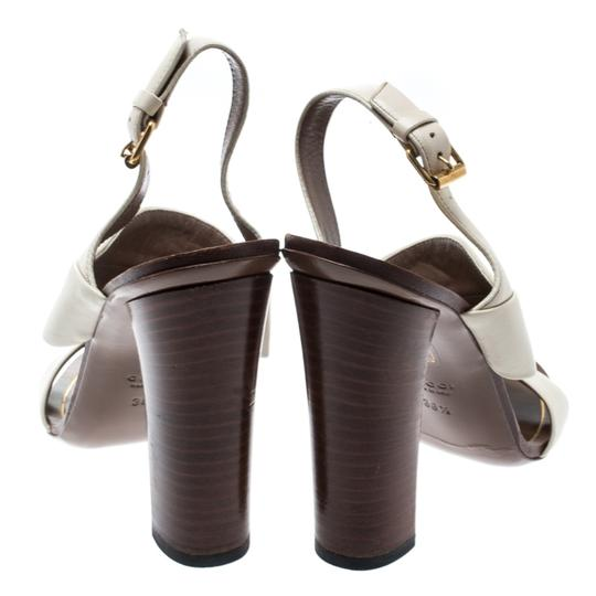 Gucci Leather Ankle Strap White Sandals Image 4