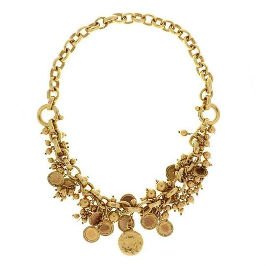 Other Italian Giodoro 18k Gold Dangling Cluster Mini Coins Charms Necklace Image 1