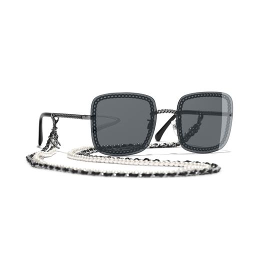 Preload https://img-static.tradesy.com/item/26389444/chanel-dark-grey-silver-sunglasses-0-0-540-540.jpg