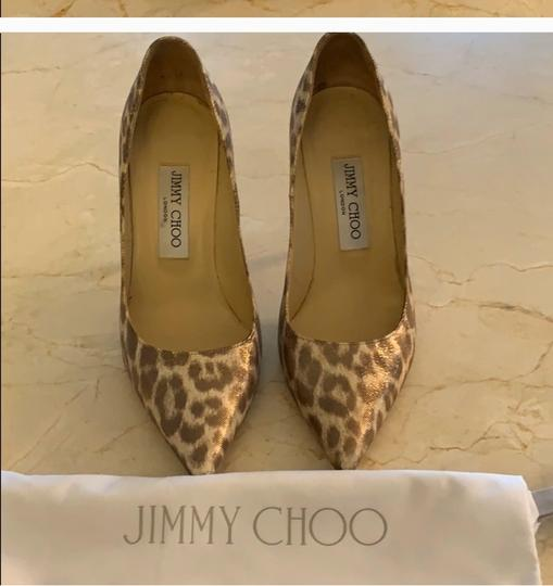 Jimmy Choo metallic leopard print Pumps Image 1