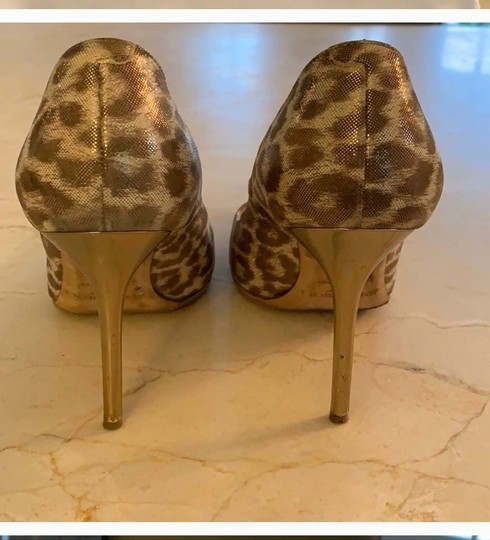 Jimmy Choo metallic leopard print Pumps Image 2