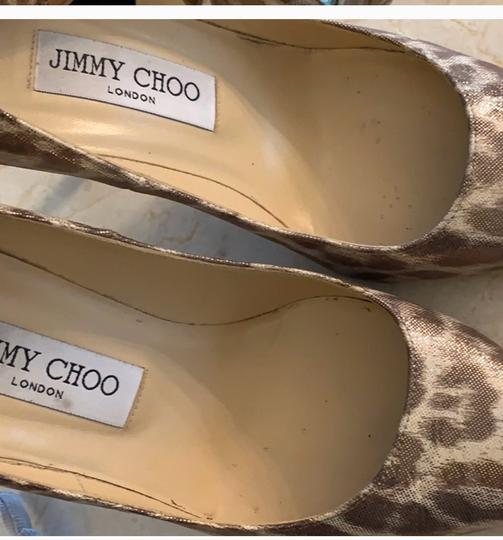 Jimmy Choo metallic leopard print Pumps Image 6