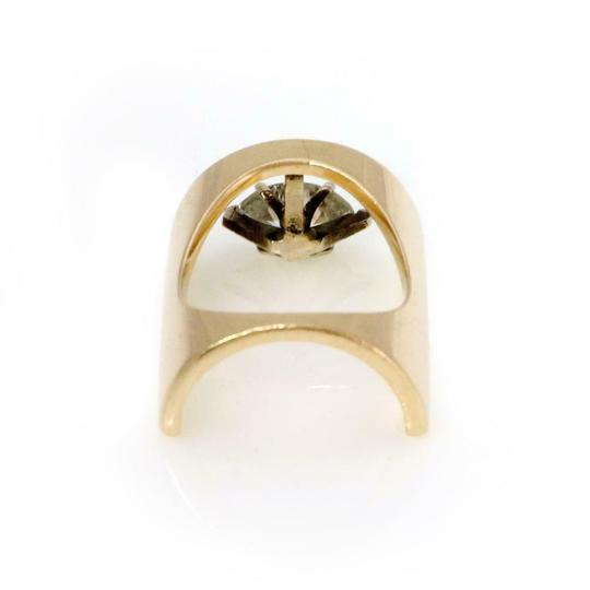 Other Vintage Marquee Diamond Solitaire 14k Yellow Gold Unique Ring Image 2