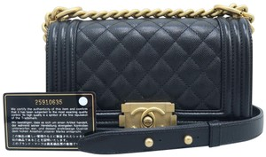 Chanel Caviar Small Boy Shoulder Bag