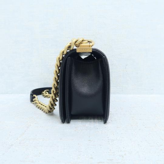 Chanel Caviar Small Boy Shoulder Bag Image 4