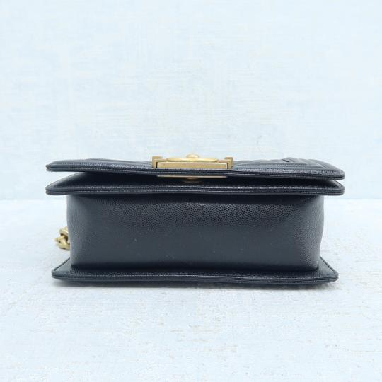 Chanel Caviar Small Boy Shoulder Bag Image 5