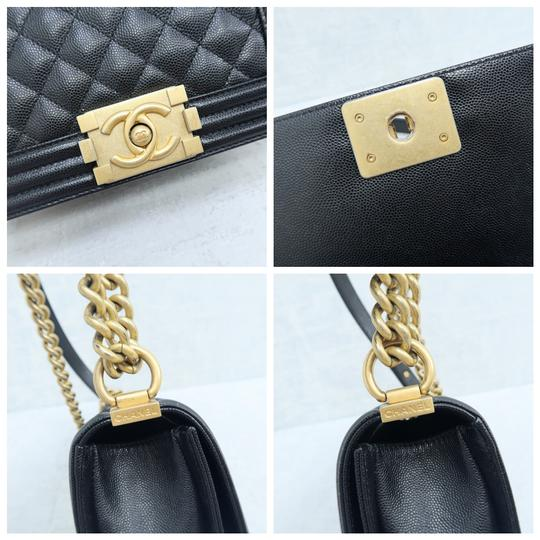Chanel Caviar Small Boy Shoulder Bag Image 8