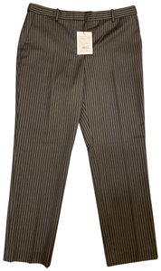 Theory Straight Pants Grey and Black Stripes